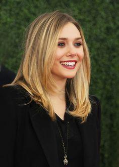 Elizabeth Olsen. Hair driving me crazy. Want to chop.