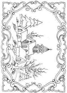 Winter Coloring Scene creaciones artisticas nº1 - Mary. 2 - Picasa Web Albums