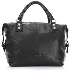 Vintage SaskiaB Handtasche Leder schwarz 39 cm