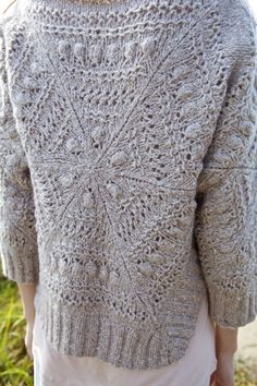 Taku - triangles join together to create an intriguing pullover - Norah Gaughan for Berroco