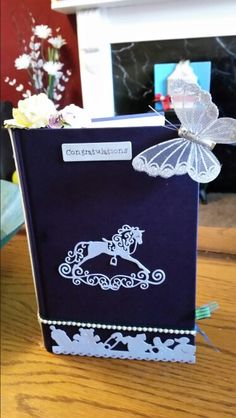 Front cover of baby book