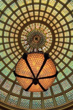 The Tiffany Dome at the Chicago Cultural Center...a best kept secret, and so beautiful it still brings me to tears