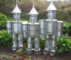 garden tin men - Google Search