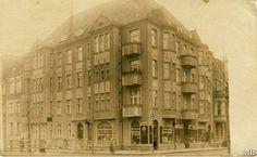 Langfuhr - Rickertweg / Haupstraße / Dom na rogu ulic Bohaterów Getta Warszawskiego i Grunwaldzkiej we Wrzeszczu