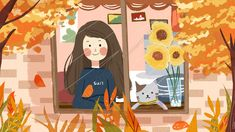 Applique Templates, Illustration Girl, Whisper, Window, Wallpapers, Autumn, Cute, Fall Pictures, Free Downloads