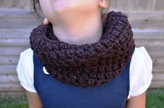 Crochet Brown Cowl Kids Cowl Soft Brown Cowl Cowl by FarahsAttic, $12.00