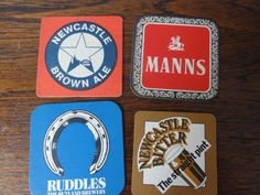 Small Lot British BEER  MATS / COASTERS  Vintage Manns Ruddles Newcastle Brown