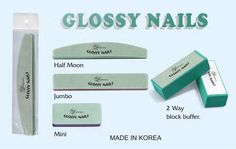 Lamour glossy nails buffer Made in Korea for Lamour Nail Products, Inc.