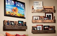 Home Ideas , Top 10 Wood Pallet Projects for your House : Wood Pallet Projects Wall Pallet Shelves