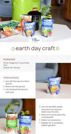 Plant a purposeful seed with kiddo this #EarthDay with a simple pouch #craft idea!