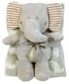 Stephan Baby- Blanket and Toy Set- Elephant