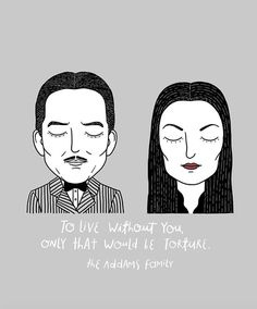 Alejandro Giraldo. Gomez y Morticia Addams, The Addams Family.