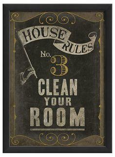 One Kings Lane - The Artwork Factory - House Rule No 3
