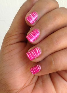I dont like pink enough to have it on my nails for an extended period of time , but this looks cool