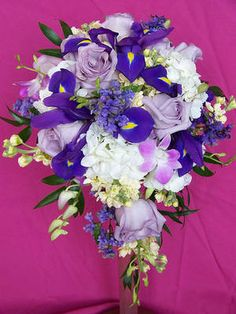 Purple Bridal Bouquets.  Flowers of Charlotte loves this!   Find us at www.charlotteweddingflorsist.com for more information on weddings and events in Charlotte, NC