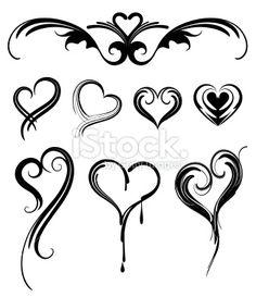 simple heart tattoo designs   Tribal Heart Tattoo Designs on Heart Shaped Tattoos Ilustra O Art ...