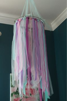 Super cute idea!  Would be even better if tulle was added to make an over the bed canopy!!