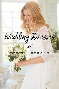 Say 'I do' with our bridal collection at Dorothy Perkins! Bridal Dresses, Flower Girl Dresses, Bridesmaid Dresses, Lace Bodice, Wedding Photoshoot, Bardot, Bridal Collection, Wedding Planning, Wedding Ideas