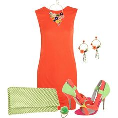 Orange & Lime by marisol-menahem on Polyvore featuring мода, T By Alexander Wang, Perrin, Nina, Debenhams, Mixit and Irene Neuwirth