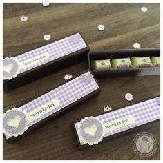Stampin' Up! -  längliche 4er Ferrero Küsschen Verpackung inkl. Anleitung    - Bellas Stempelwelt