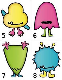 Monster Eyeball Counting {freebie} by Miss Kindergarten Love Miss Kindergarten, Kindergarten Lesson Plans, Kindergarten Activities, Preschool Activities, Preschool Learning, Preschool Crafts, Learning Activities, Monster Party, Monster Crafts