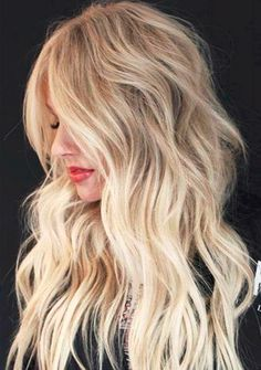 Choppy Layers For Blonde Balayage Hair Easy Hairstyles For Long Hair, Long Wavy Hair, Protective Hairstyles, Long Hair Cuts, Long Hair Styles, Wavy Hairstyles, Choppy Layers For Long Hair, Amazing Hairstyles, Layered Haircuts For Women