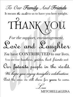 #Wedding Day Thank You Card for Guests by WeddingsByJamie on Etsy