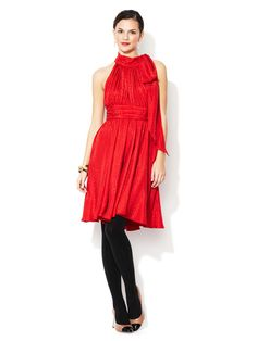 Milly red silk dress $179 today only! #gorgeousness @MillybyMichelle