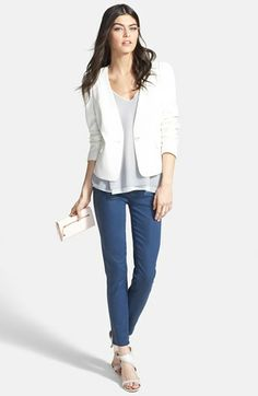 Chelsea28 Jacket & Tank, Paige Denim Skinny Ankle Jeans  available at #Nordstrom