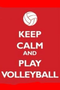Keep calm and play vollyball