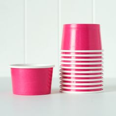 NEW! Ice Cream Cups - Dark Pink shoptomkat.com