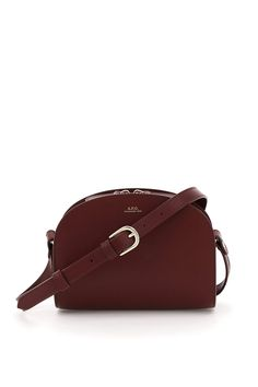 £313.0. A.P.C. Crossbody Bag A.P.C. Demi Lune Crossbody Mini Bag #apc #crossbodybag #leather #bags Brown Leather Backpack, Leather Crossbody Bag, Calf Leather, Leather Shoulder Bag, Leather Bags, Purple Cross, Fendi Bags, Mini Crossbody Bag, Black Tote