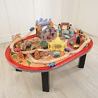 Radiator Springs Race Track Set Table Bought This Last Xmas Still A Favorite Around Here If I Could Only Extra Wood Tracks For