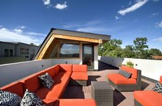 Elegant Roof Terrace @ Shield House in Denver, Colorado by Studio H:T