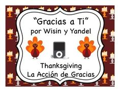 Teach your students how to show gratitude in Spanish with these song language & culture activities for Thanksgiving
