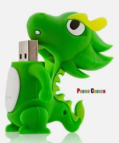 Promo Crunch Custom Shaped Rubber Flash Drives: Cartoon dragon shaped custom USB Flash Drive