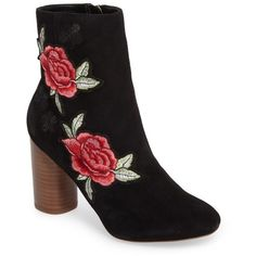 Women's Sole Society Mulholland Embroidered Boot ($120) ❤ liked on Polyvore featuring shoes, boots, black patches, multi color boots, embroidered boots, multi color shoes, kohl shoes and sole society shoes