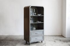 Refinished 1950's Freezer Upcycled as Industrial by RehabVintageLA