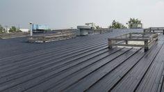 Liquid Rubber Coating To Industrial Metal Roof In Calgary Alberta. Bragg Creek, Roofing Supplies, Roof Coating, Industrial Metal, Roof Repair, Metal Roof, Calgary, Outdoor Decor