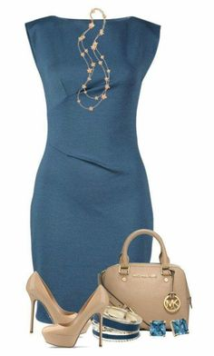 Outfit # Rebecca Taylor, Sergio Rossi, Michael Kors, Dorothy Perkins, Carolee and Folli Follie Stylish Work Outfits, Summer Work Outfits, Classy Outfits, Casual Outfits, Formal Outfits, Fashionable Outfits, Stylish Clothes, Summer Dresses, Spring Outfits