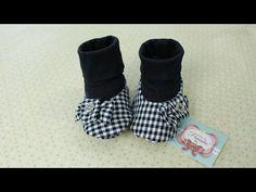Sapatinho de Tecido e Malha para Menina 0 a 3 Meses Gabi Doll Shoes, Doll Clothes, Baby Shoes, Slippers, Socks, Sewing, Womens Fashion, Knit Shoes, Felt Shoes