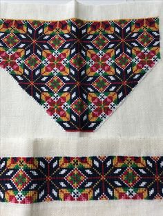 Made by Inger Johanne Wilde Hardanger Embroidery, Embroidery Patterns, Traditional Dresses, Norway, Vikings, Bohemian Rug, Diy And Crafts, Cross Stitch, Abayas