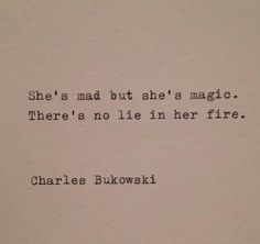 She's mad but she's magic...