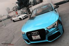 Blue Chrome Audi 10 at Audi Wrapped in Ice Blue Chrome - Cars and motor Allroad Audi, Audi Rs5, Audi Interior, Rs5 Coupe, Rose Gold Chrome, Chrome Cars, Bmw M4, Car Wrap, Fast Cars