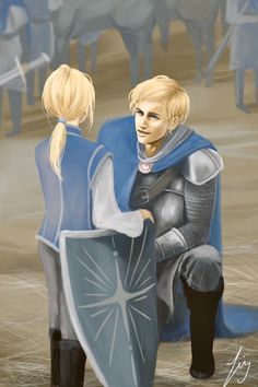 Young Laurent and his dear elder brother, Auguste - Captive Prince
