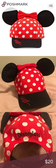 Minnie Mouse Baseball Cap w/ ears New never worn perfect condition, without tags. My boyfriend bought it for me but I already have one. Make me an offer, no lowballing! Disney Accessories Hats