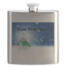 Personalizable Little Snowman Flask