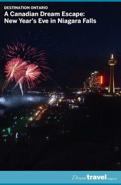 It's on many people's bucket lists. New Year's Eve in Niagara Falls. For a guide on where to watch the fireworks, what to do and where to stay check out our post here. Ontario Travel, Canadian Travel, Festivals Around The World, Road Trip, Culture Travel, Travel Advice, New Years Eve, Travel Pictures, Niagara Falls