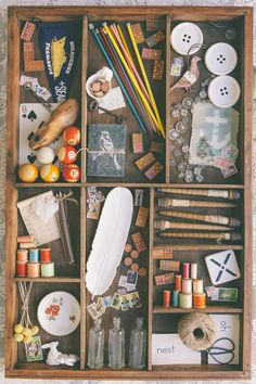 Vintage drawer vignette . I dream to have a pretty box that looks this good one day. www.wholeheartedstudio.com.au