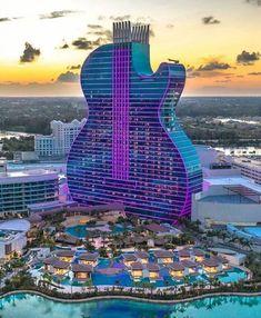 hotel building Hard Rock Hotel, Hollywood F - hotel Florida Hotels, Florida Usa, Hotels And Resorts, Best Hotels, South Florida, Hotels Disney, Luxury Hotels, Luxury Travel, Hard Rock Hotel